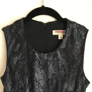 Burberry Navy Sequined Dress Size 4